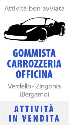 Attività commerciale di Gommista Carrozzeria Autofficina in vendita zona Verdello Bergamo