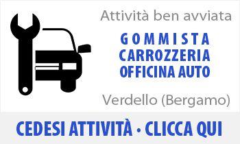 Attività commerciale di Gommista Carrozziere Autofficina in vendita zona Verdello Bergamo