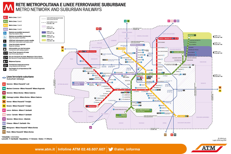 Cartina Metro Rossa Milano.Metro Milano Fermate E Linee Aggiornate